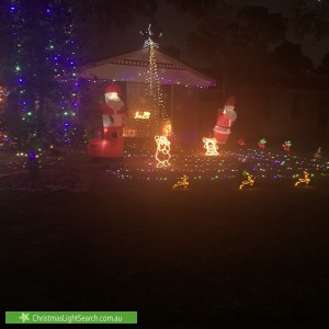Christmas Light display at 19 Lanyon Court, Wattle Grove