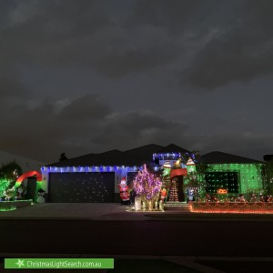 Christmas Light display at 12 Mossgreen Link, Harrisdale