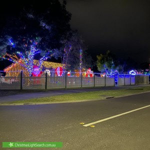 Christmas Light display at 27 Chloe Drive, Hastings