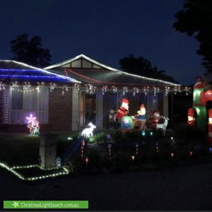 Christmas Light display at 23 Kurrua Grove, Dernancourt