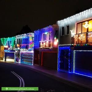 Christmas Light display at  Kinsellas Drive, Lane Cove North