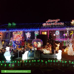 Christmas Light display at 3 Marcel Place, Baulkham Hills