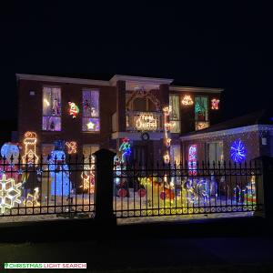 Christmas Light display at 13 Anthony Court, Hallam