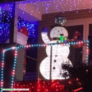 Christmas Light display at 39 Mascoma Street, Strathmore