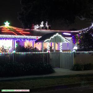 Christmas Light display at  White Avenue, Bayswater North