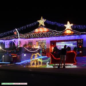 Christmas Light display at 2 Sherlock Rise, Carramar