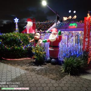 Christmas Light display at 6 Albara Road, Ingle Farm