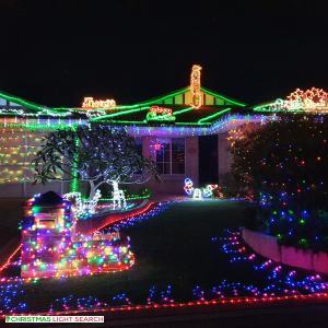 Christmas Light display at 21 Arbroath Circle, Kinross