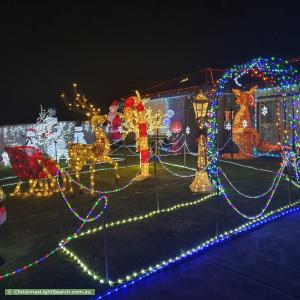 Christmas Light display at 83 Endeavour Drive, Cranbourne North