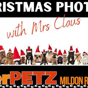 Christmas photos with Mrs Claus