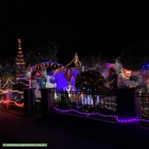 Christmas Light display at 11 Octavia Court, Burwood