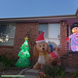 Christmas Light display at 22 House Circuit, Banks