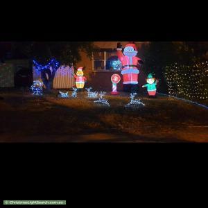 Christmas Light display at 33 Winara Drive, Ingle Farm
