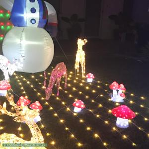Christmas Light display at 56 Taywood Drive, Wanneroo
