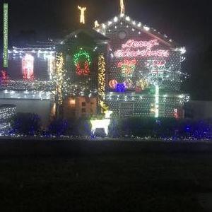 Christmas Light display at  Richards Close, Berowra