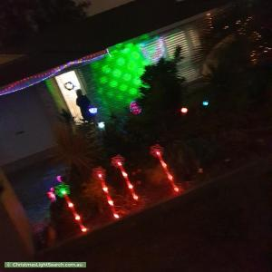 Christmas Light display at 1 Hannant Street, Collingwood Park
