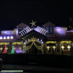 Christmas Light display at 88 Parkhill Road, Kew