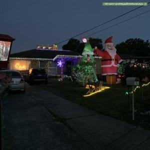 Christmas Light display at 1 Collings Court Collings Court, Mooroolbark