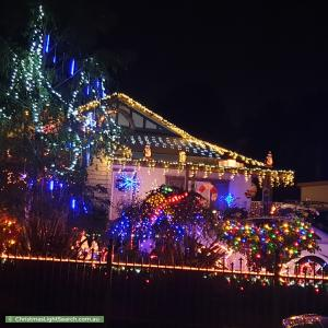 Christmas Light display at 6 Barina Road, Oak Park