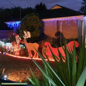 Christmas Light display at 34 Blandford Crescent, Bayswater North