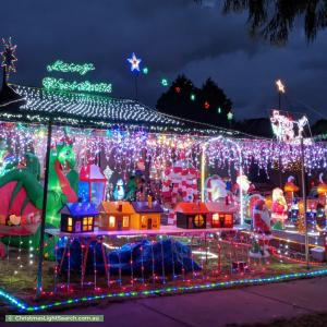 Christmas Light display at 9 Warwick Close, Wantirna