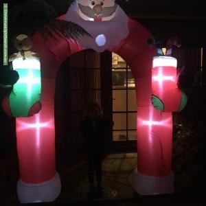 Christmas Light display at 22 Bowen Avenue, The Basin