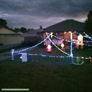 Christmas Light display at 3 Fawdon Way, Collie