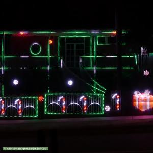 Christmas Light display at 18 Temira Crescent, Larrakeyah