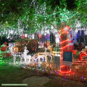 Christmas Light display at 8 Kennack Vista, Atwell