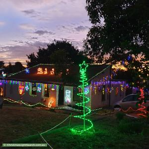 Christmas Light display at 4 Mintanta Drive, Banksia Park