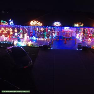 Christmas Light display at 9 Middlesex Court, Cranbourne North