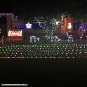 Christmas Light display at 8 Laurence Street, Rostrevor