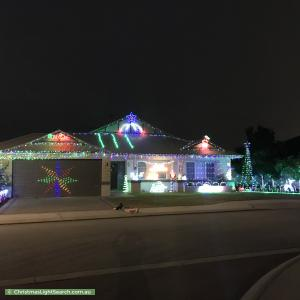 Christmas Light display at 8 Cunningham Street, Canning Vale
