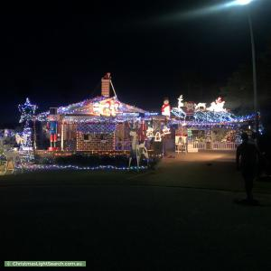Christmas Light display at 11 Olsen Court, Leeming