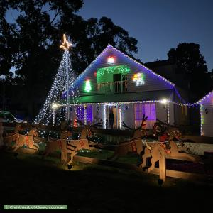 Christmas Light display at 62 South Beach Road, Somers
