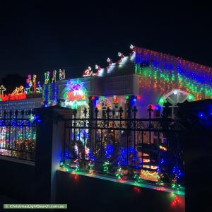 Christmas Light display at 13 Sharp Street, Northcote
