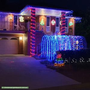 Christmas Light display at 2 Elischer Street, Dunlop