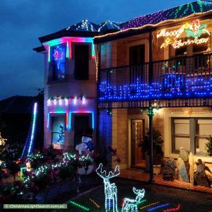 Christmas Light display at 27 Sturdee Street, Linden Park