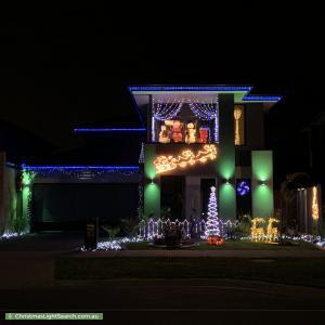 Christmas Light display at  Newgrange Boulevard, Clyde North