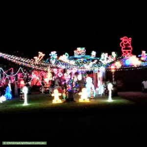Christmas Light display at 73 Bulong Avenue, Ascot