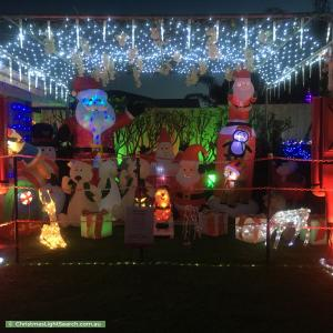 Christmas Light display at 33 Yorn Circuit, Beeliar