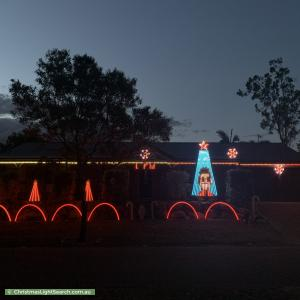 Christmas Light display at 67 Leichhardt Circuit, Forest Lake