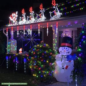 Christmas Light display at 7 James Street, Clarence Park