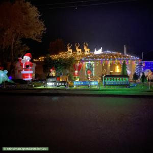 Christmas Light display at  Koonya Avenue, Seaford
