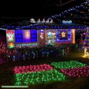 Christmas Light display at 394 Hancock Road, Surrey Downs