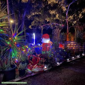 Christmas Light display at 8 Hebden Street, Greensborough