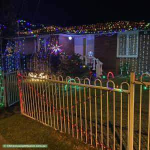Christmas Light display at 117 Bougainville Road, Blackett