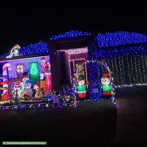 Christmas Light display at 9 Glider Street, North Lakes