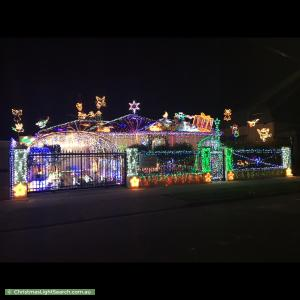 Christmas Light display at 25 Bond Street, West Hindmarsh