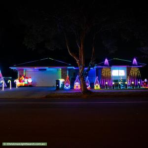 Christmas Light display at 86 College Way, Boondall